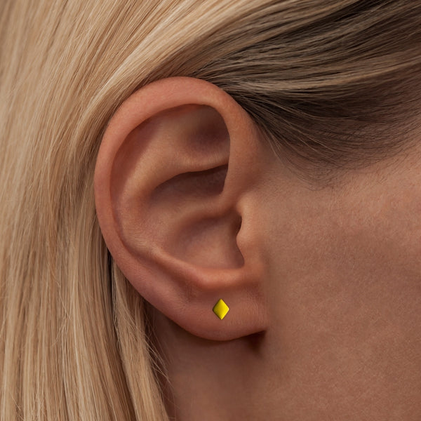 LULU Copenhagen CONFETTI 1 PCS - GOLD PLATED Ear stud, 1 pcs Yellow