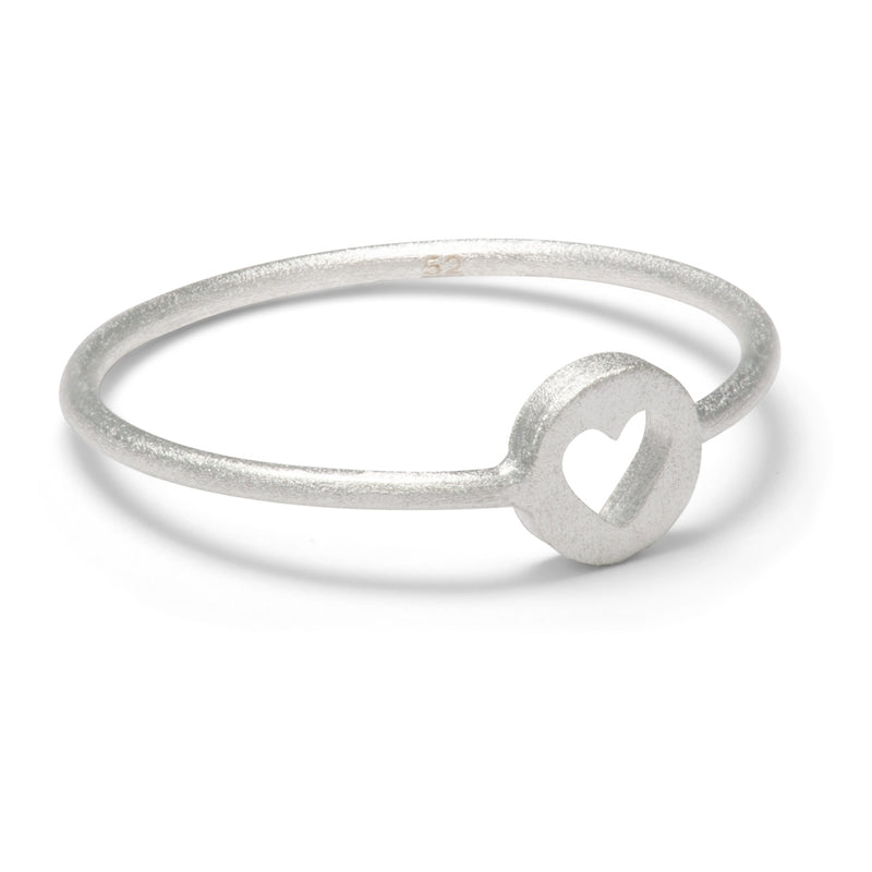 LULU Copenhagen CUT OUT HEART RING Rings Silver