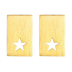 LULU Copenhagen CUT OUT STAR PAIR Earrings, pairs Gold Plated