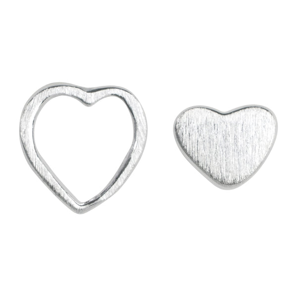 LULU Copenhagen FAMILY LOVE EARRINGS PAIR - BRUSHED Earrings, pairs Silver