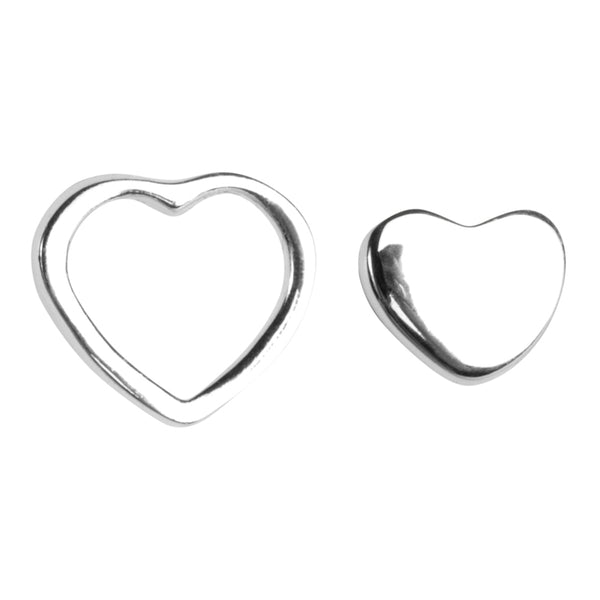LULU Copenhagen FAMILY LOVE EARRINGS PAIR - SHINY Earrings, pairs Silver
