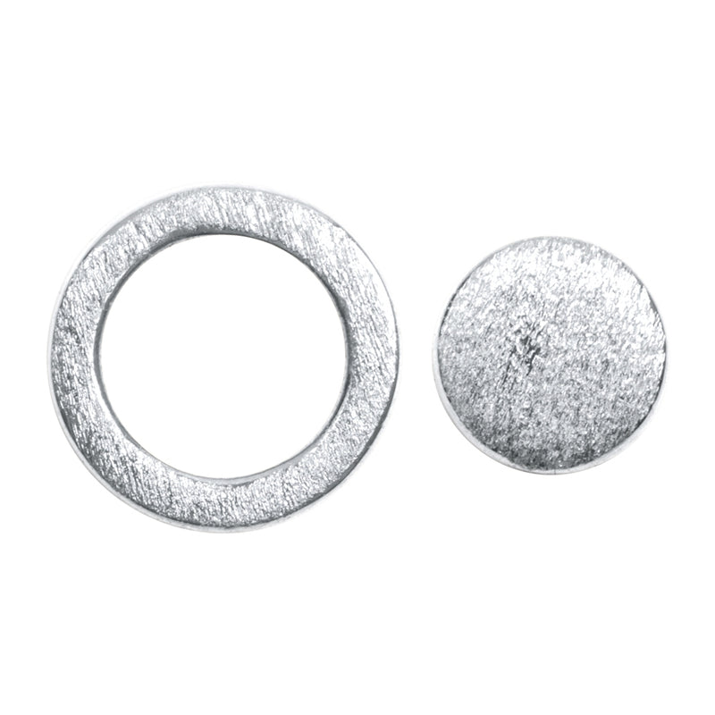 LULU Copenhagen FAMILY ROUND EARRINGS PAIR Earrings, pairs Silver