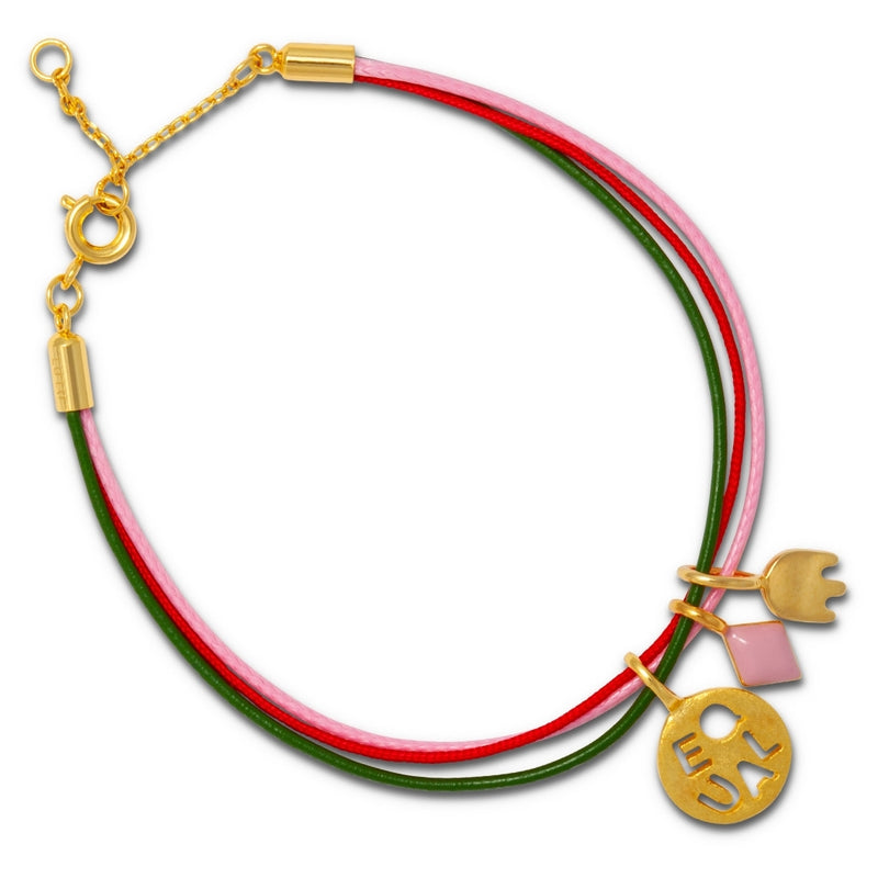 LULU Copenhagen COLLECTOR BRACELET Bracelets Rose/Red/Green