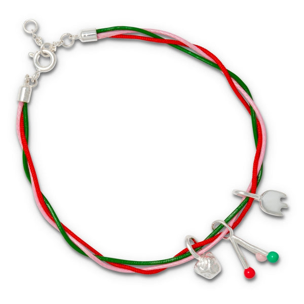 LULU Copenhagen COLLECTOR BRACELET - SILVER PLATED Bracelets Rose/Red/Green