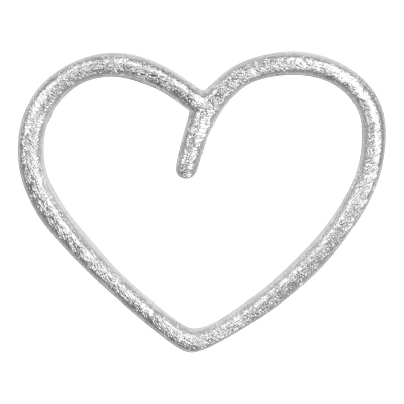 LULU Copenhagen HAPPY HEART 1 PCS Ear stud, 1 pcs Silver