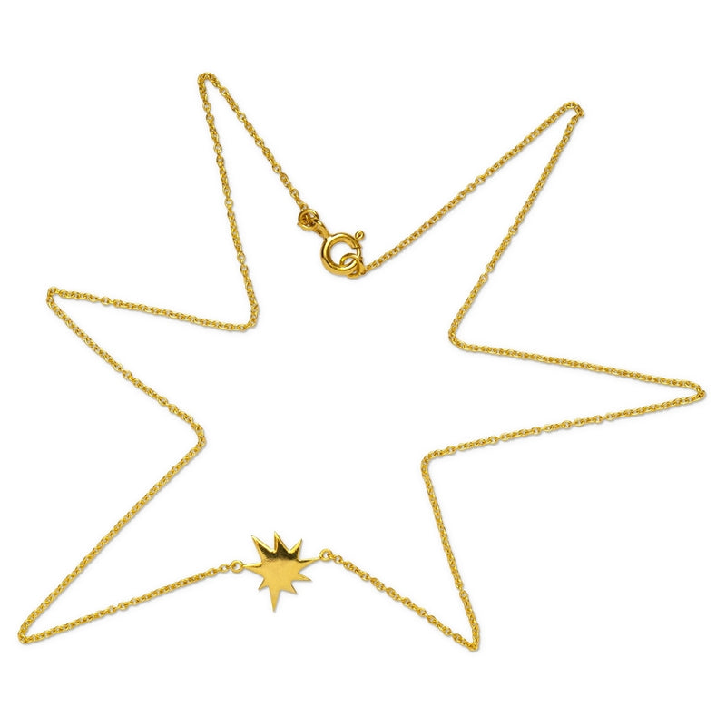 LULU Copenhagen KAPOW NECKLACE Necklaces Gold Plated