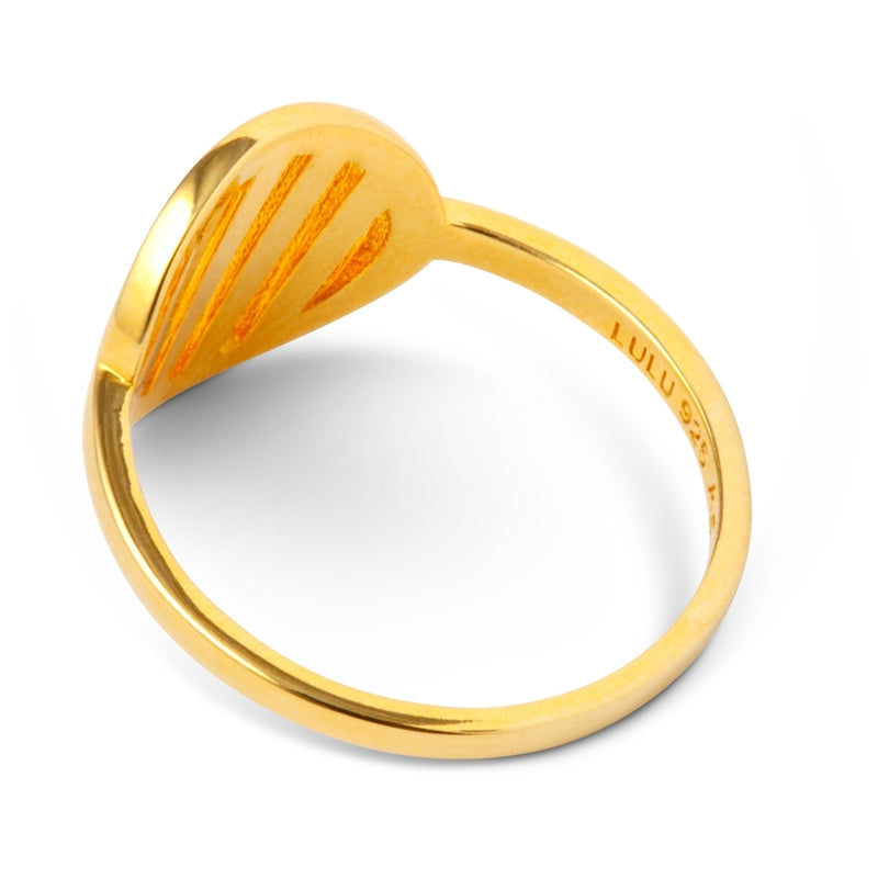 LULU Copenhagen LOLLY RING Rings Gold Plated