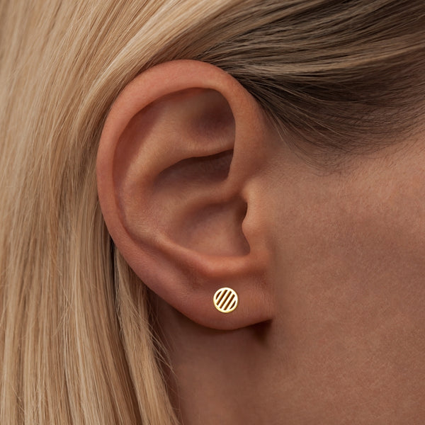 LULU Copenhagen LOLLY SMALL 1 PCS Ear stud, 1 pcs Gold Plated