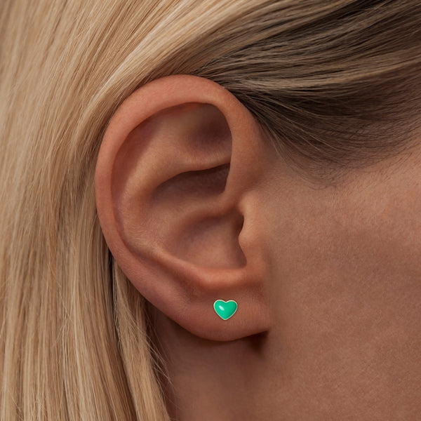 LULU Copenhagen LOVE U 1 PCS - ENAMEL Ear stud, 1 pcs Light Green