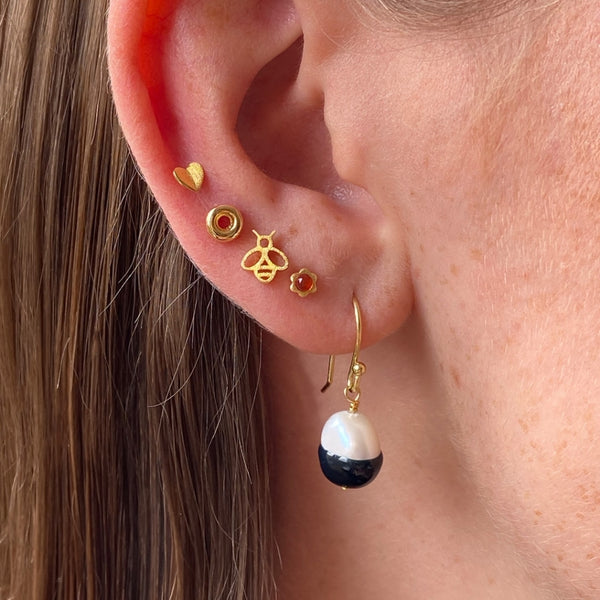 LULU Copenhagen LULU BAROQUE 1 PCS Ear stud, 1 pcs Black