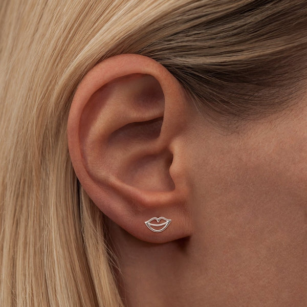 LULU Copenhagen SECRET 1 PCS - SHINY Ear stud, 1 pcs Silver
