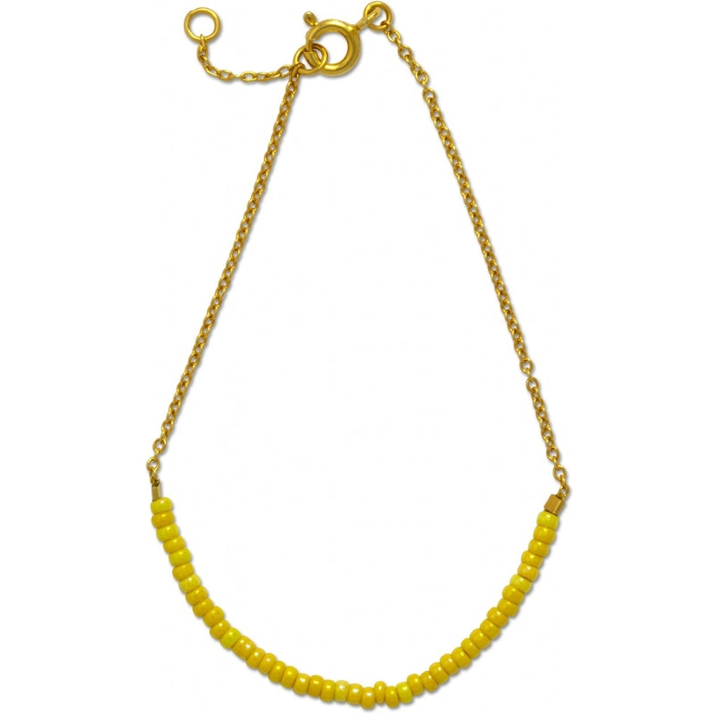 LULU Copenhagen STRING BRACELET - GOLD PLATED Bracelets Gold with yellow seed beads