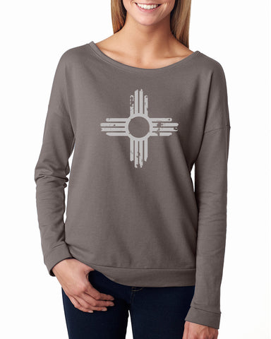 Distressed Zia - Ladies French Terry Sweatshirt