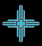 Turquoise Black T-shirt - Zia New Mexico