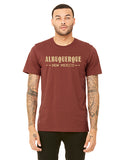 Albuquerque New Mexico T-shirt Rust Colored on a Model