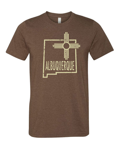 Albuquerque T-shirt - New Mexico State outline