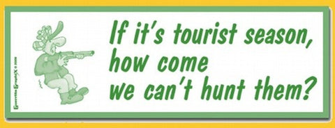 Tourist Season Sticker