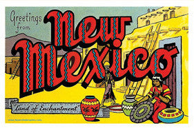 Retro New Mexico Postcard
