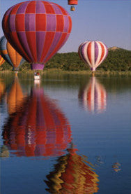 Balloons on the Rio Grande Postcard