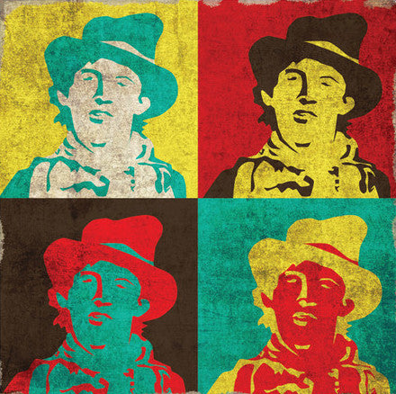 New Kid in Town - Billy the Kid Warhol-ish Square Postcard