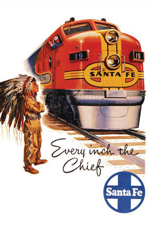 Every Inch the Chief SFRR Postcard