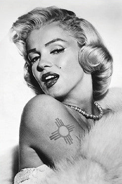 Marilyn's New Zia Tattoo Postcard