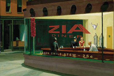 Nighthawks at the Zia Diner Postcard