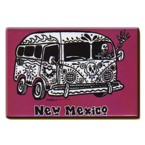 NM Hippie Bus Skeleton Magnet