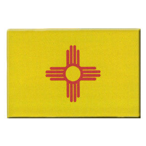 NM Flag - Red Zia on Yellow Magnet