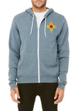 License Plate Zia Embroidered Zip-up Hoodie