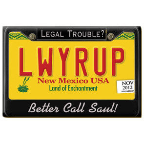 LWYRUP - Better Call Saul License Plate Magnet