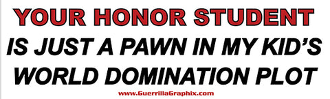 Honor Student Just a Pawn Sticker
