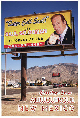 Better Call Saul Billboard Postcard