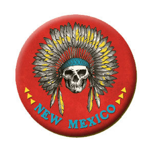 NM Chief Skull with Feather Headress Magnet