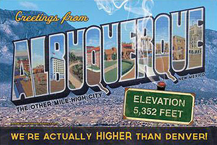Albuquerque, The other mile high city Postcard