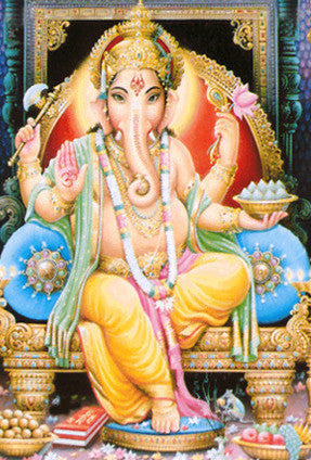 Full Color Ganesh Postcard