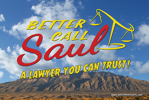 Better Call Saul Lawyer You Can Trust Postcard
