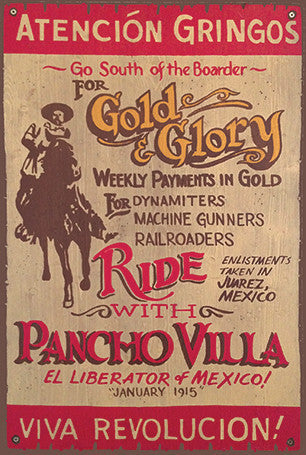 Ride with Pancho Villa Postcard