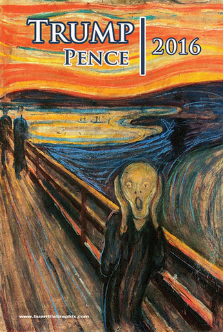 Trump/Pence Scream Postcard