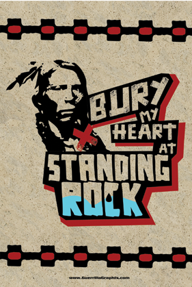 Bury My Heart at Standing Rock Postcard