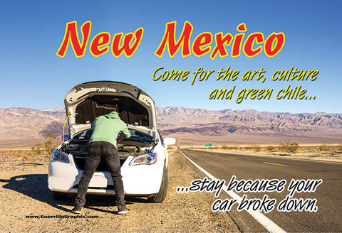 New Mexico Breakdown Postcard