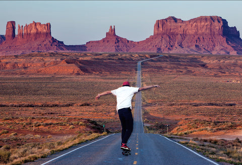 Thrashing Monument Valley - Skateboard Postcard