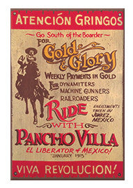 Pancho Villa Advertising Magnet - Gold and Glory