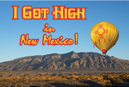 I Got High in New Mexico Postcard