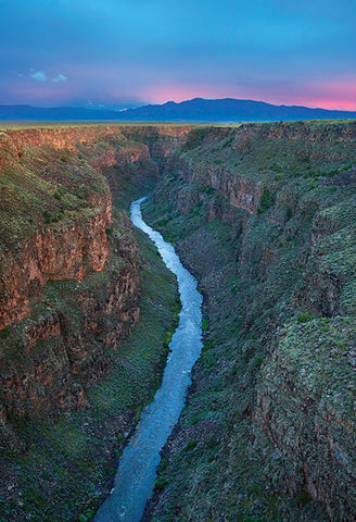 Taos Gorge at Sunset Postcard