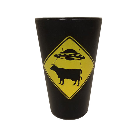 UFO Cattle Crossing Sili Pint Glass