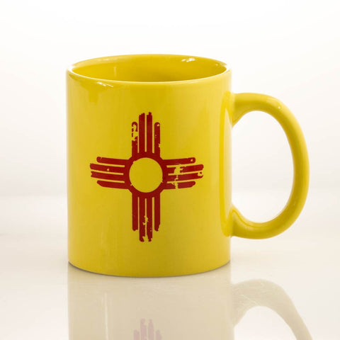 Distressed Zia - Yellow Mug