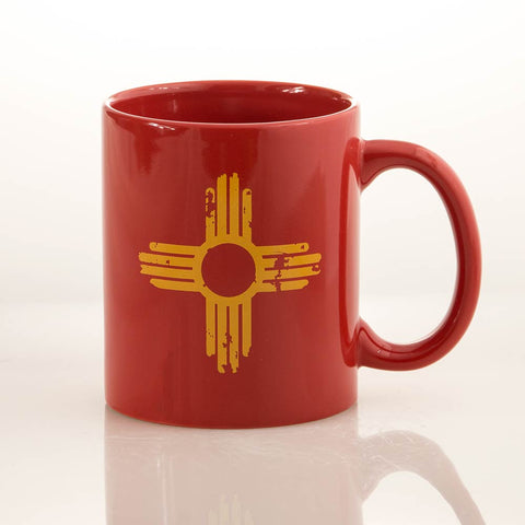 Distressed Zia - Red Mug
