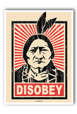 Disobey Poster Art Print