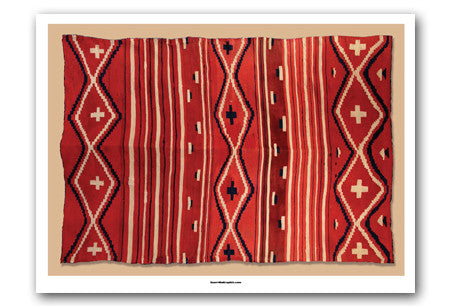 Navajo Childs Blanket Weaving Art Print Poster